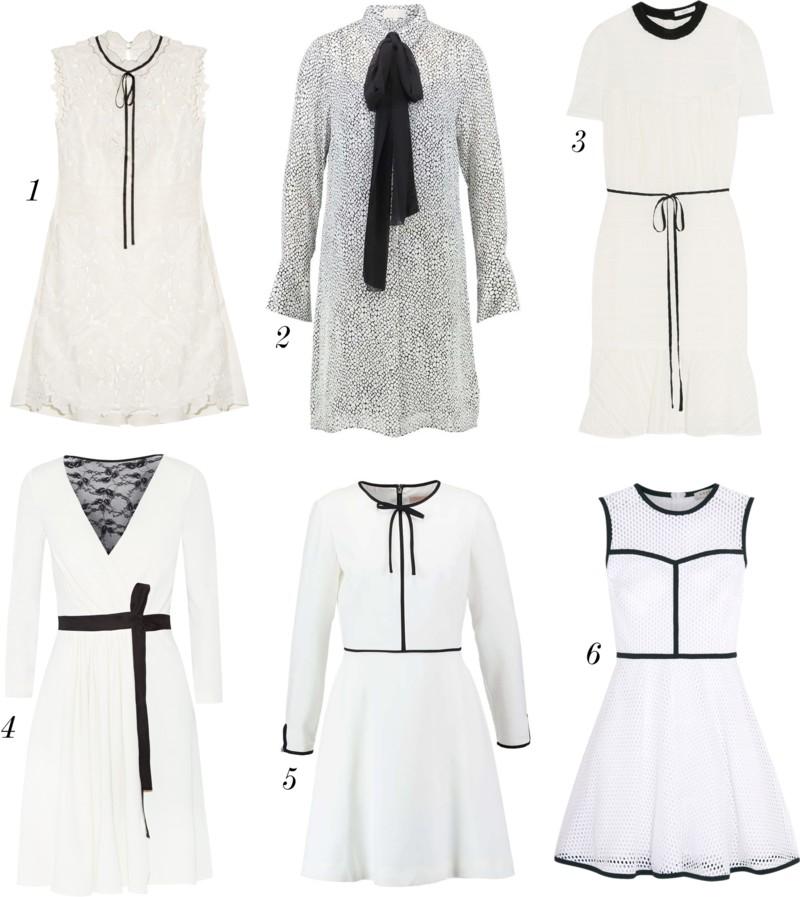 svart vita klanningar