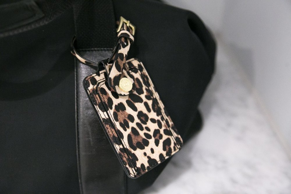 passfodral bagagetag leopard