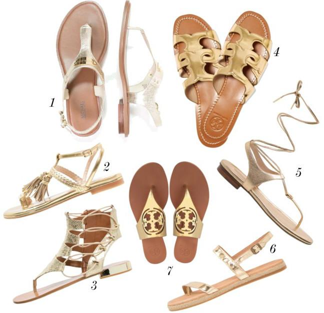 guld sandaler